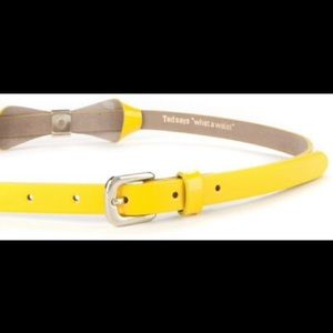Ted Baker Yellow Looped Belt